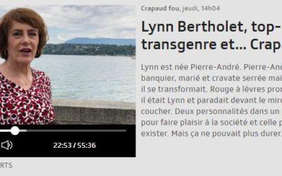 """Lynn Bertholet s'exprime dans l'émission """"Le Crapaud Fou"""" sur la RTS"""