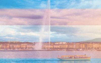 Illumination du jet d'eau aux couleurs trans*